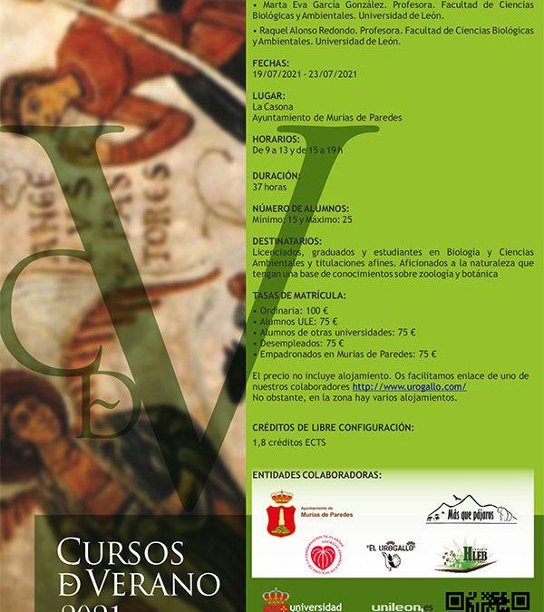 """Curso """"Biología de la conservación de flora y fauna en la Cordillera Cantábrica"""""""